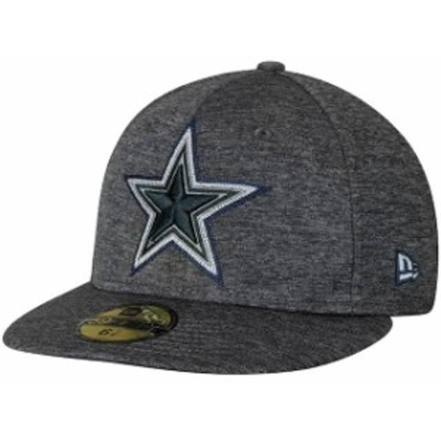 New Era ニュー エラ スポーツ用品  New Era Dallas Cowboys Heathered Gray Shadow Stitcher 59FIFTY Fitted Hat