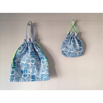 【送料無料】袋2点セット体操服袋&巾着(プラモデル柄)