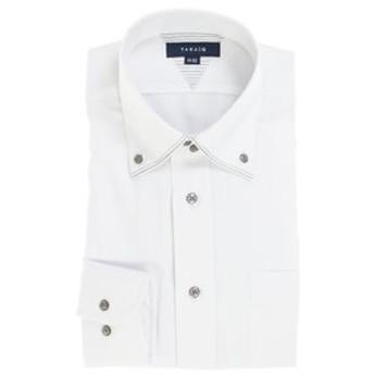 【TAKA-Q:トップス】形態安定抗菌防臭レギュラーフィット 2枚衿マイターボタンダウン長袖ビジネスドレスシャツ