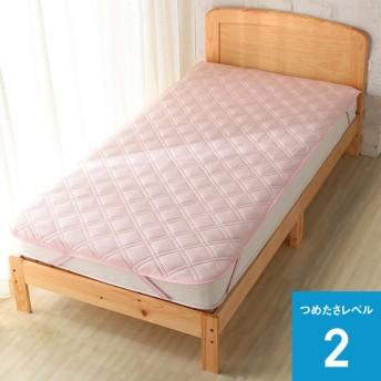 敷パッドひんやりフィット&綿パイル ピンク ダブル ホームコーディコールド ダブル 敷きパッド