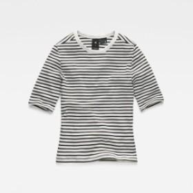 gstar ジースター ファッション 女性用ウェア Tシャツ gstar rc-silber-cropped-round-neck