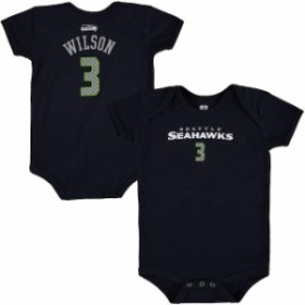 Outerstuff アウタースタッフ シャツ Tシャツ Russell Wilson Seattle Seahawks Infant College Navy Mainliner Name & Nu