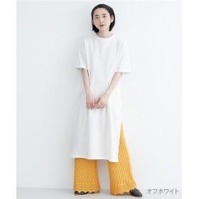 メルロー サイドスリットBIGTシャツワンピース レディース オフホワイト FREE 【merlot】