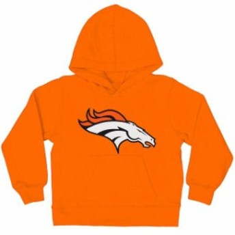 Outerstuff アウタースタッフ スポーツ用品 Denver Broncos Preschool Orange Team Logo Fleece Pullover Hoodie