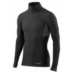 skins スキンズ ランニング&トライアスロン 男性用ウェア Tシャツ skins dnamic-thermal-mock-neck