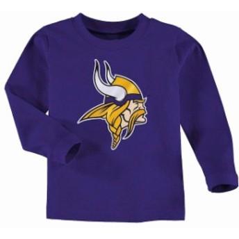 Outerstuff アウタースタッフ スポーツ用品 Minnesota Vikings Toddler Team Logo Long Sleeve T-Shirt - Purple