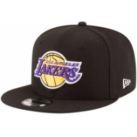 New Era ニュー エラ スポーツ用品  New Era Los Angeles Lakers Black Official Team Color 9FIFTY Adjustable Snapback Hat