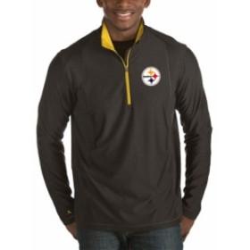 Antigua アンティグア アウターウェア ジャケット/アウター Antigua Pittsburgh Steelers Heather Black Tempo Ha