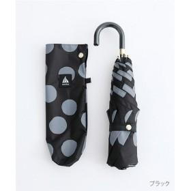 メルロー 大きな水玉柄 晴雨兼用折りたたみ傘 レディース ブラック FREE 【merlot】