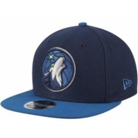New Era ニュー エラ スポーツ用品  New Era Minnesota Timberwolves Navy/Blue 2Tone Original Fit 9FIFTY Snapback Hat
