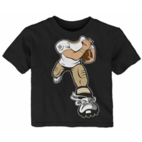 Outerstuff アウタースタッフ スポーツ用品  New Orleans Saints Toddler Black Yard Rush T-Shirt