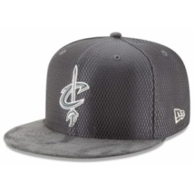 New Era ニュー エラ スポーツ用品  New Era Cleveland Cavaliers Graphite/Silver NBA Draft 59FIFTY Fitted Hat