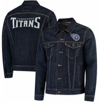 Levis リーバイス アウターウェア ジャケット/アウター Levis Tennessee Titans Blue Sports Denim Trucker Jacket