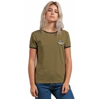 volcom ボルコム ファッション 女性用ウェア Tシャツ volcom keep-goin-ringer-tee