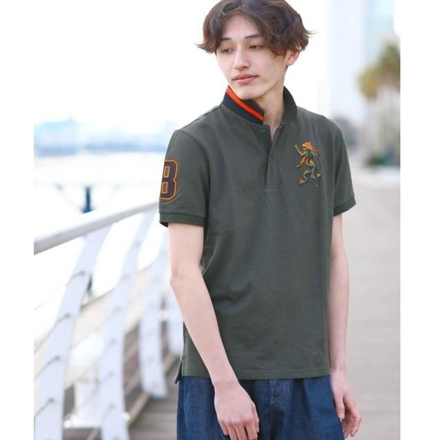 [マルイ] [GIORDANO]3Dライオン刺繍グラデーションポロシャツ/ジョルダーノ(メンズ)(GIORDANO)
