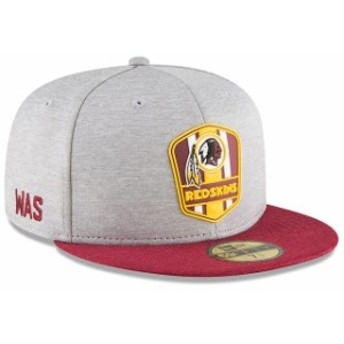 New Era ニュー エラ 服 New Era Washington Redskins Heathered Gray/Burgundy 2018 NFL Sideline Road Official 59FIFTY Fitted