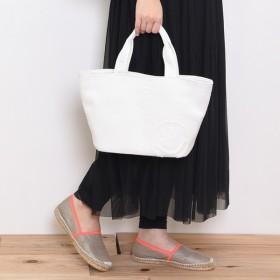 [マルイ]【セール】ニコちゃん スマイル 刺繍 トート バッグ/クーコ(cooco)