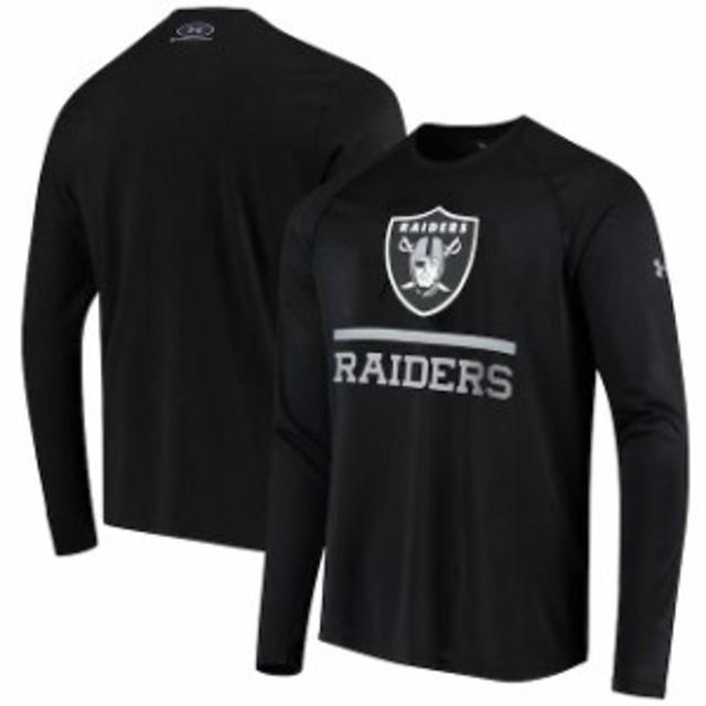 Under Armour アンダー アーマー スポーツ用品  Under Armour Oakland Raiders Black Combine Authentic Lockup Tech Long