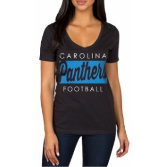 JFNB ジェイエフエヌビー スポーツ用品 Carolina Panthers Womens Black Draw Play V-Neck T-Shirt