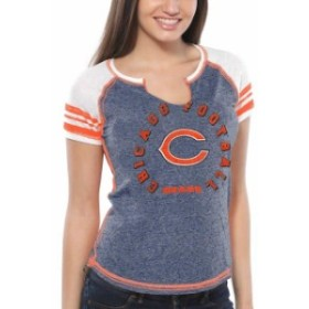 Majestic マジェスティック スポーツ用品  Majestic Chicago Bears Womens Navy Blue More Than Enough V-Neck T-Shirt