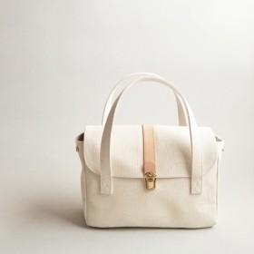 倉敷帆布のハンドバッグ〈シロ〉