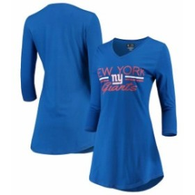 Concepts Sport コンセプト スポーツ 寝間着  Concepts Sport New York Giants Womens Royal Duo Long Sleeve V-Neck Nights