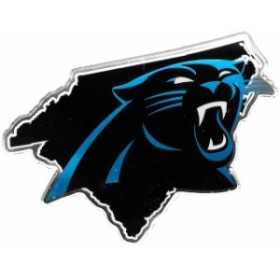 Stockdale ストックデール スポーツ用品  Carolina Panthers State Shape Acrylic Metallic Auto Emblem