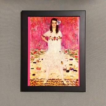 クリムト メーダ・プリマヴェージの肖像 フォトタイル木製フレーム付き