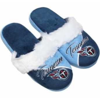 Forever Collectibles フォーエバー コレクティブル シューズ スリッパ Tennessee Titans Womens Cursive Colorblo