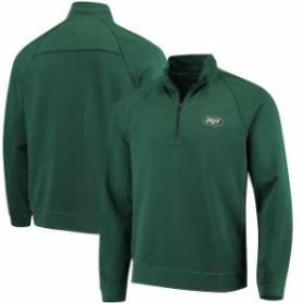 Tommy Bahama トミー バハマ 服 スウェット Tommy Bahama New York Jets Green Ben & Terry Coast Quarter-Zip Sweater
