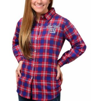 Forever Collectibles フォーエバー コレクティブル シャツ Tシャツ Klew New York Giants Womens Royal Wordmark Fl