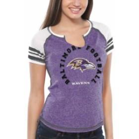 Majestic マジェスティック スポーツ用品  Majestic Baltimore Ravens Womens Purple More Than Enough V-Neck T-Shirt