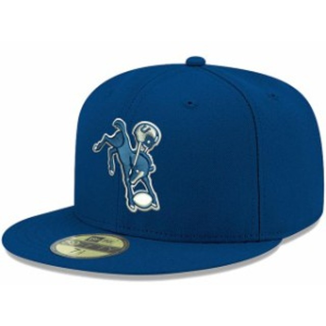 New Era ニュー エラ スポーツ用品  New Era Indianapolis Colts Royal Omaha Throwback 59FIFTY Fitted Hat