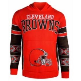 Klew クルー スポーツ用品  Klew Cleveland Browns Orange Big Logo Sweater Pullover Hoodie