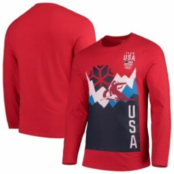 Outerstuff アウタースタッフ スポーツ用品 Team USA Red Traverse Long Sleeve T-Shirt