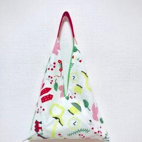 2019春の北欧スタイル - 和風プリント生地トートバッグ - 色食料品