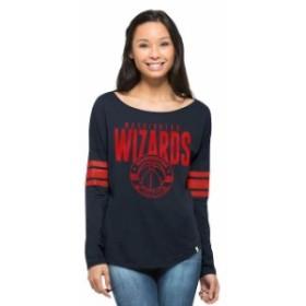 47 フォーティーセブン スポーツ用品  47 Washington Wizards Womens Navy Ladies Courtside Long Sleeve T-Shirt