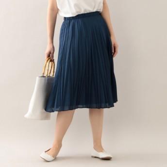 SALE【マッキントッシュ フィロソフィー ウィメン(MACKINTOSH PHILOSOPHY WOMEN)】 【ウォッシャブル】ポリエステルスパンサテン スカート ブルー