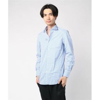 ESTNATION / ロンドンストライプドレスシャツ ブルー系その他/38(エストネーション)◆メンズ シャツ/ブラウス
