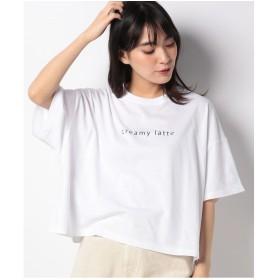 WEGO WEGO/ワイドルーズロゴプリントTシャツ(ホワイト)【返品不可商品】