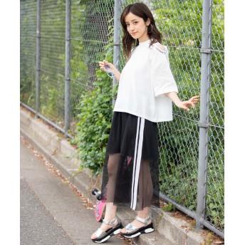 Tシャツ - WEGO【WOMEN】 ワンショルリブロゴTシャツ WE19SM05-L057