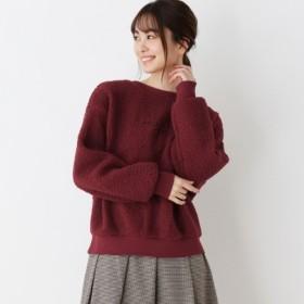 [マルイ]【セール】ボアロゴ刺繍プルオーバー/ピンクアドベ(pink adobe)