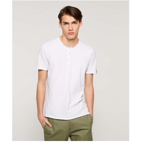 SISLEY スラブヘンリーネック半袖Tシャツ・カットソー(ホワイト)【返品不可商品】