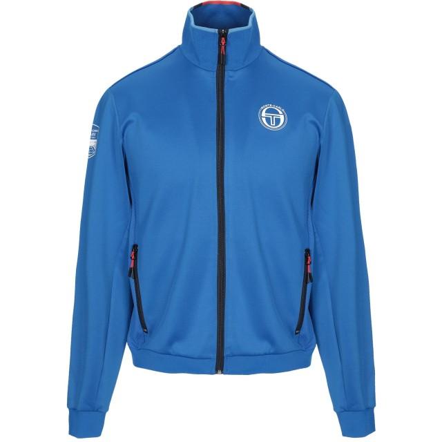 《セール開催中》SERGIO TACCHINI メンズ スウェットシャツ ブライトブルー S ポリエステル 94% / ポリウレタン 6%