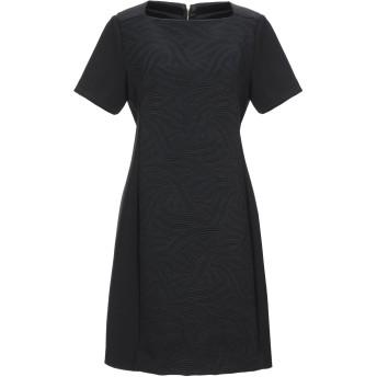 《セール開催中》TRUSSARDI JEANS レディース ミニワンピース&ドレス ブラック 40 コットン 66% / ポリエステル 34% / レーヨン / ポリウレタン