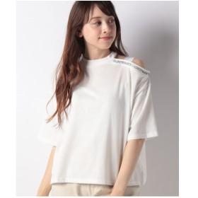 WEGO WEGO/ワンショルリブロゴTシャツ(ホワイト)【返品不可商品】