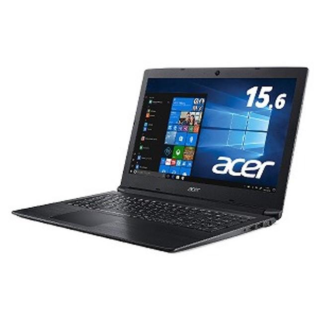 ACER エイサー ノートパソコンAspire 3 A315-53-N24U/K オブシディアンブラック(Pentium Gold 4417U/4GB/256GB SSD/ドライブなし/15.6型/Windows 10 Home(64bit))