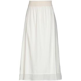 《期間限定 セール開催中》MAMA B. レディース 7分丈スカート ホワイト S コットン 90% / ポリウレタン 10%