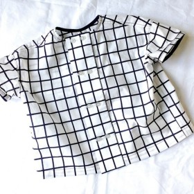 [90cm]コックさんシャツ☆ネイビー☆