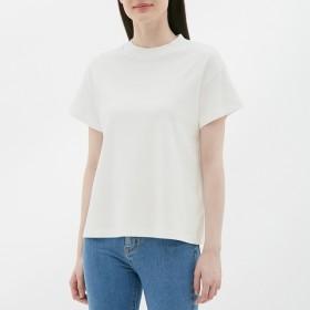 (GU)スムースT(半袖) OFF WHITE L
